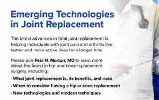 Modern Hip and Knee Surgery