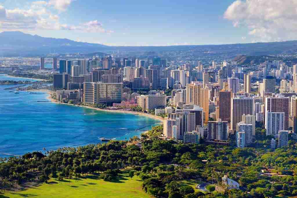 View of Honolulu City
