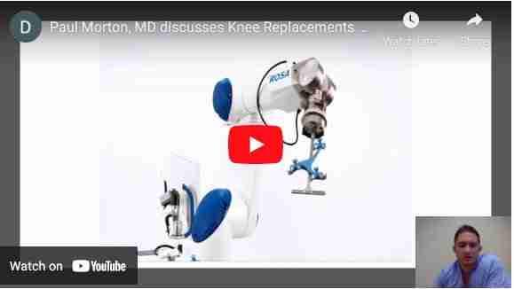 Dr Paul Norio Morton Discusses Robotic Joint Replacements