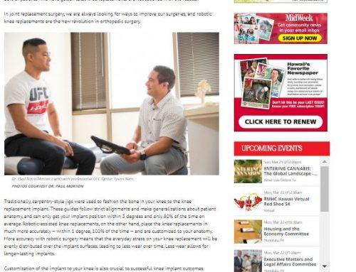 Midweek Feature: Utilizing Robotics In Orthopedics